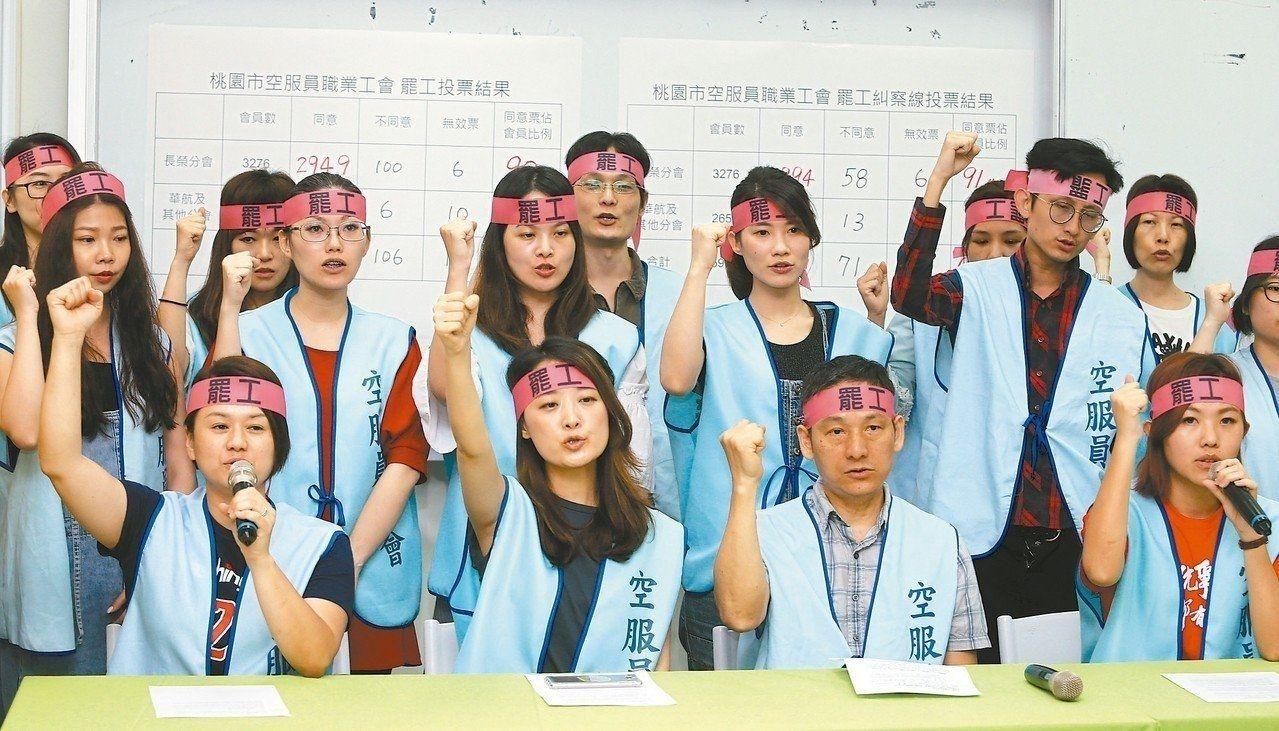 台空服员投票取得合法罢工权 暑期航空运输恐拉警报
