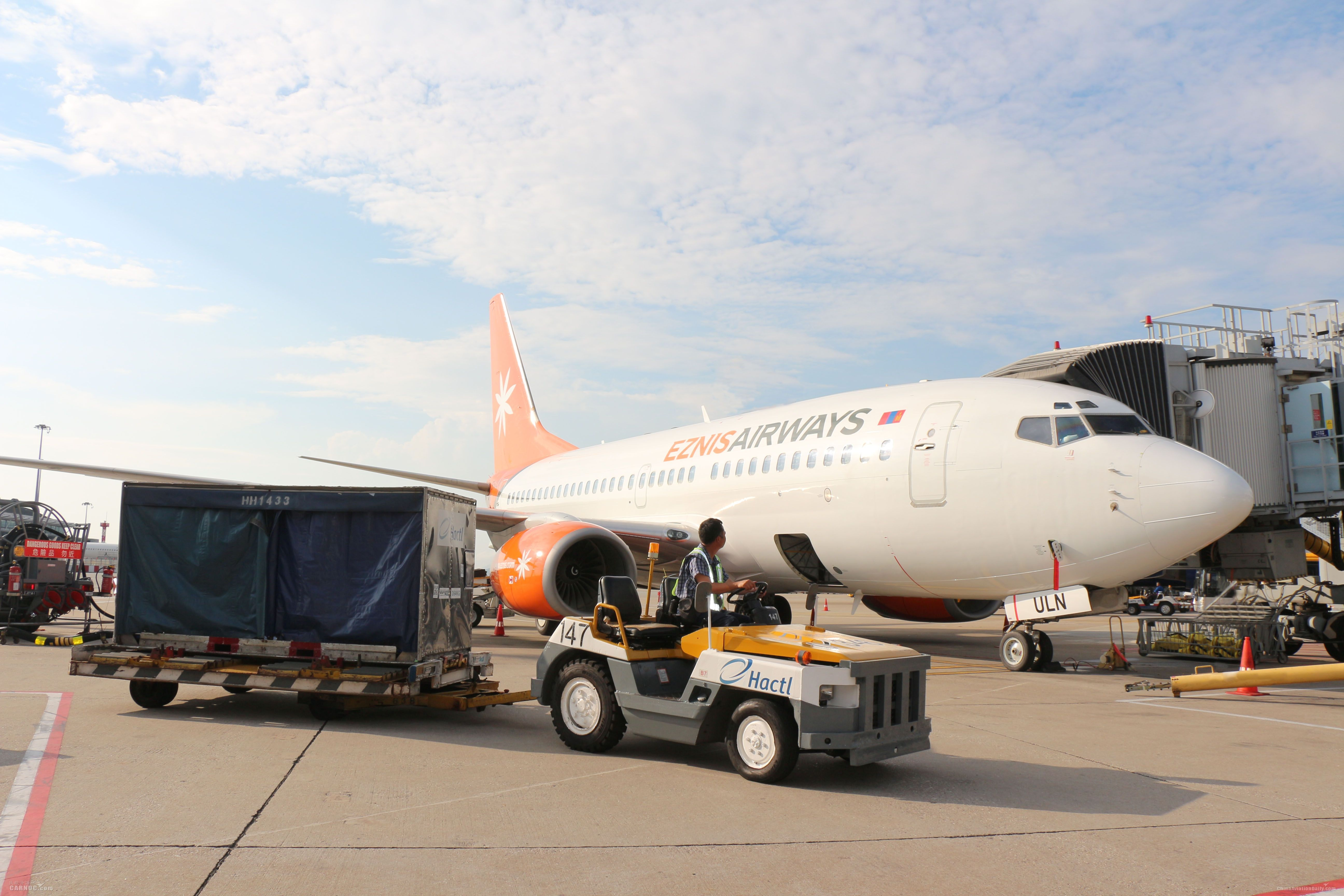 蒙古伊斯尼斯航空委任香港空運貨站提供服務