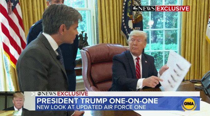 """特朗普:我设计的""""空军一号""""长这样"""