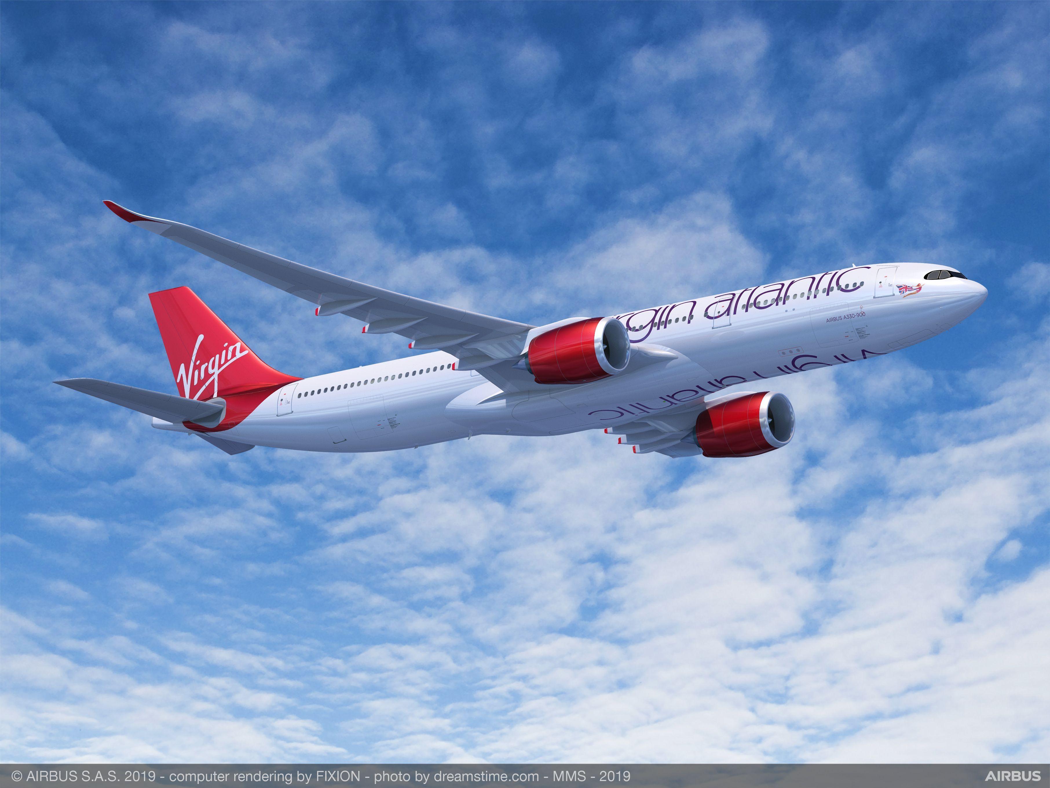 维珍大西洋航空宣布订购14架A330-900