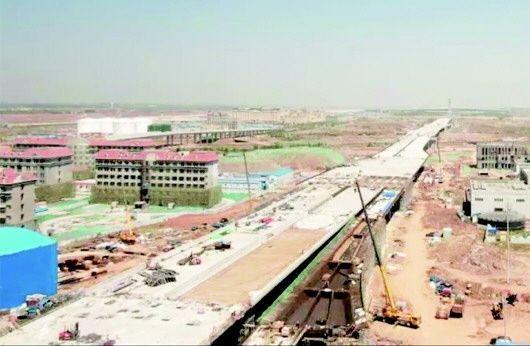 青岛胶东国际机场互通立交建设过半