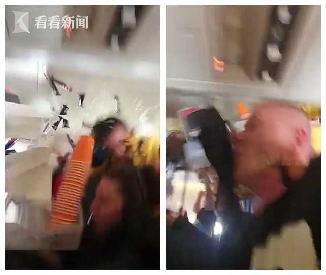 客机高空遭遇强气流 空姐和饮料车飞撞机舱天花板
