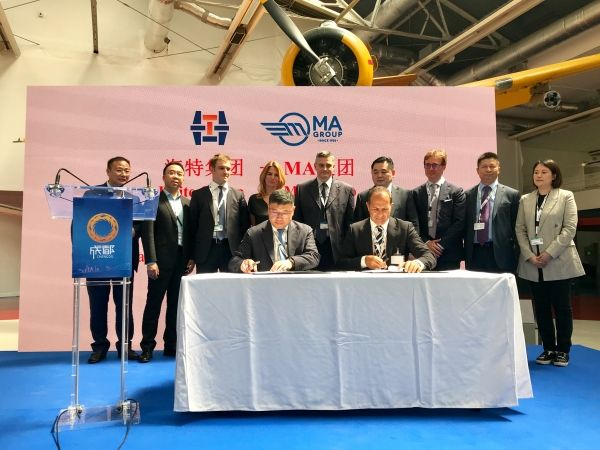 海特集团与意大利MA集团加强航空领域合作