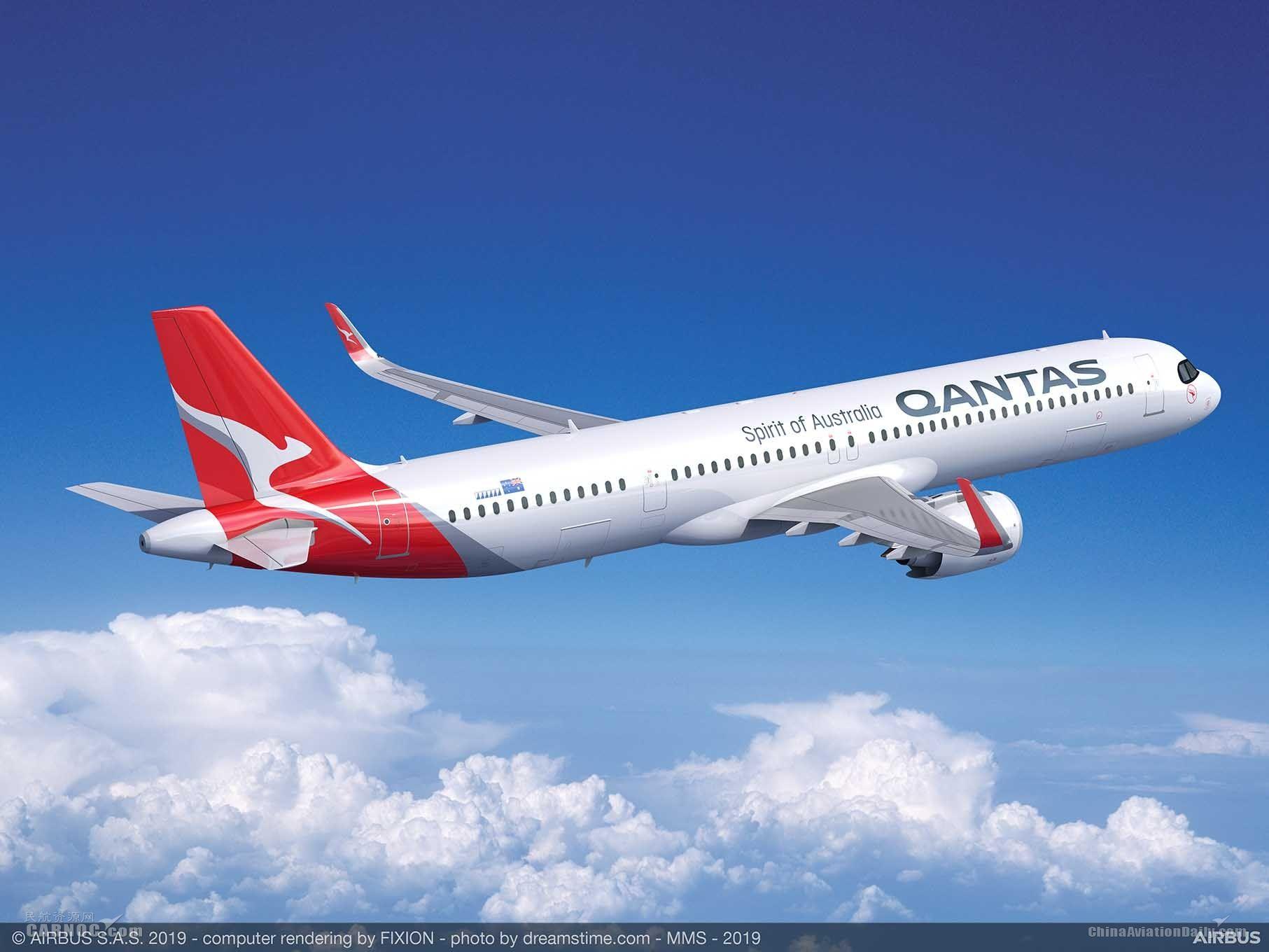 澳洲航空宣布引进36架空客超远程型A321XLR飞机