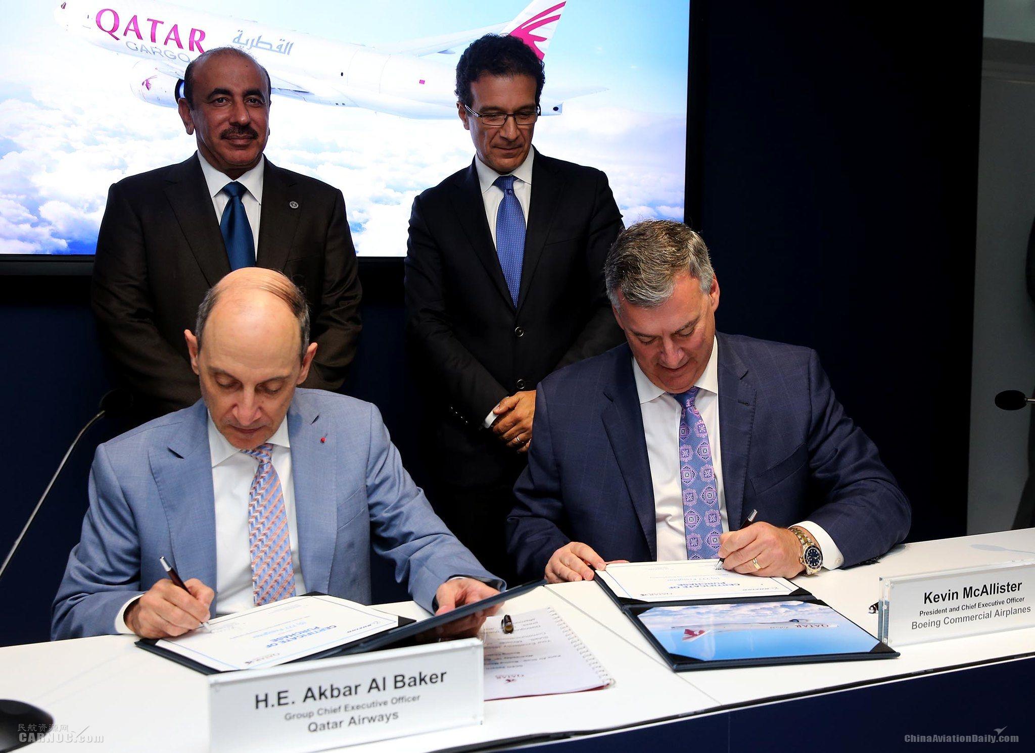 卡塔尔航空货运在巴黎航展宣布订购5架777货机
