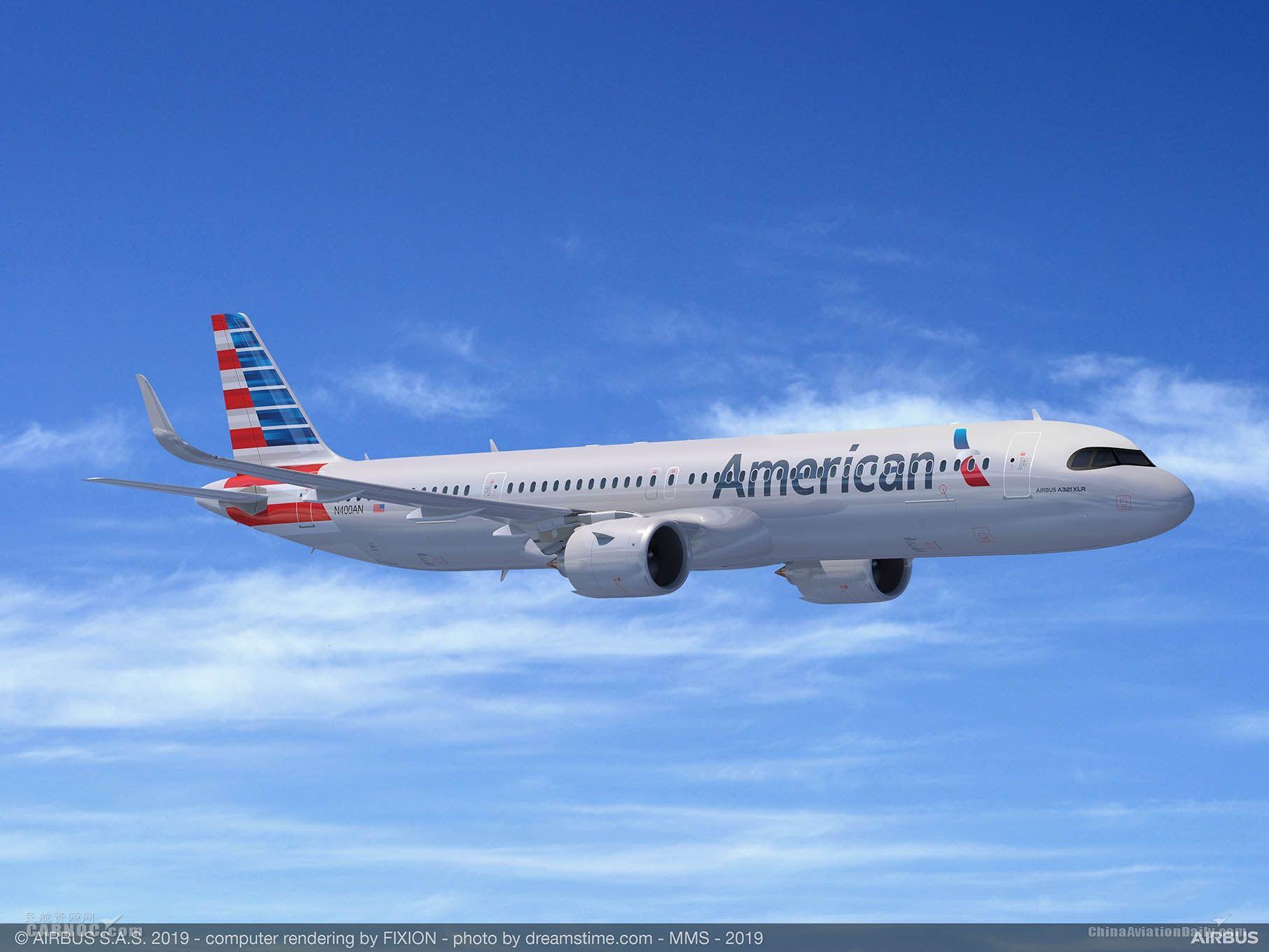 美国航空订购50架空客超远程型A321XLR飞机