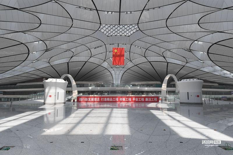 提前探访北京大兴国际机场 内部装饰基本完工