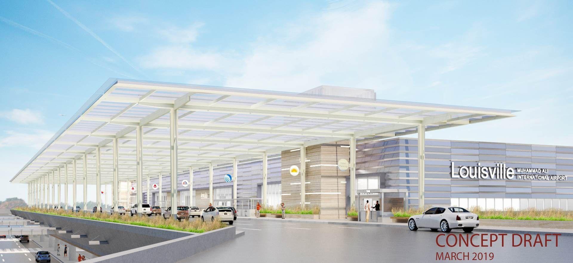 """路易斯维尔穆罕默德·阿里国际机场""""改造效果图"""