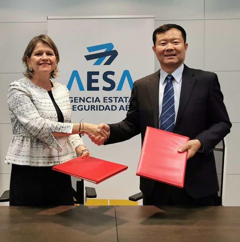 中国与西班牙签署民航安全合作谅解备忘录