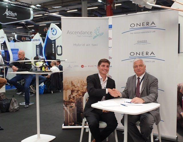 在巴黎航展上Ascendance与欧洲国家航空航天研究办公室Onera签订混合动力VTOL合作开发协议。(图片来自于网络)