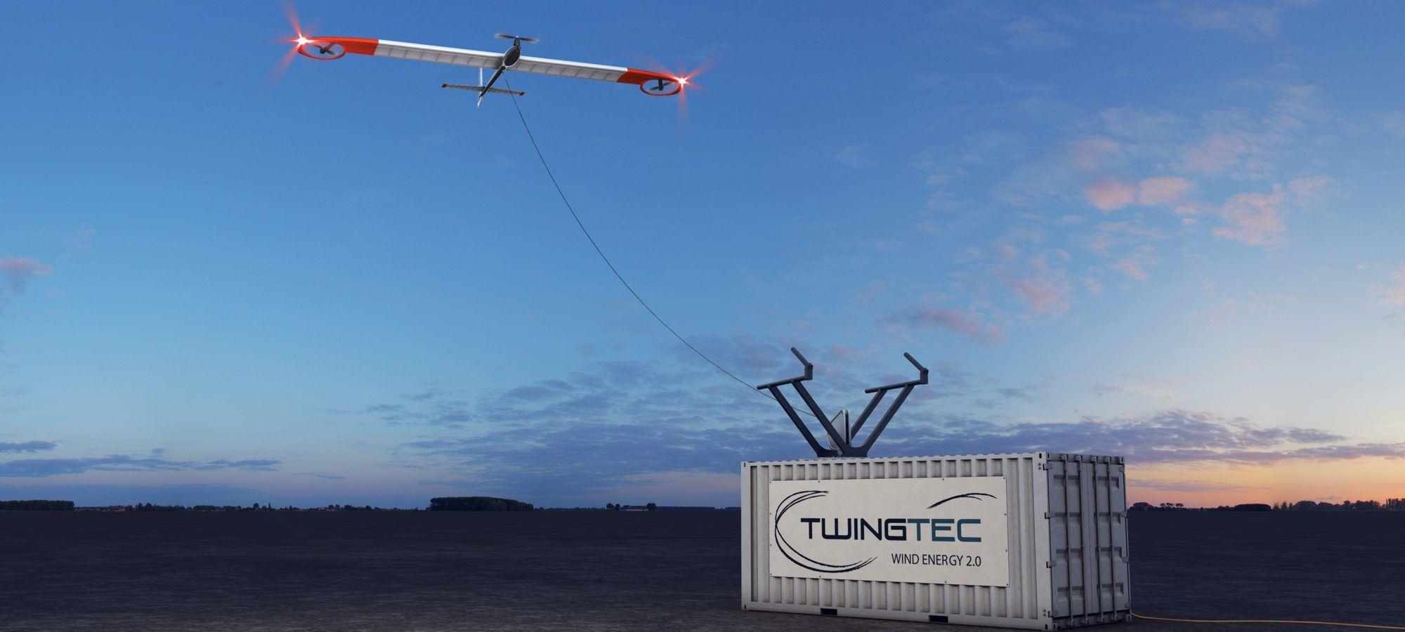 TWINGTEC开发了利用风能飞行的飞行器,其起降阶段类似多旋翼飞行器(图片来自于官网)