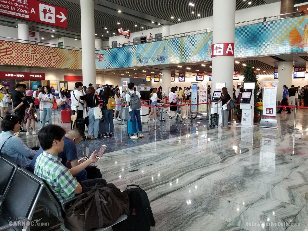 澳门国际机场2019年上半年客运量增长18%