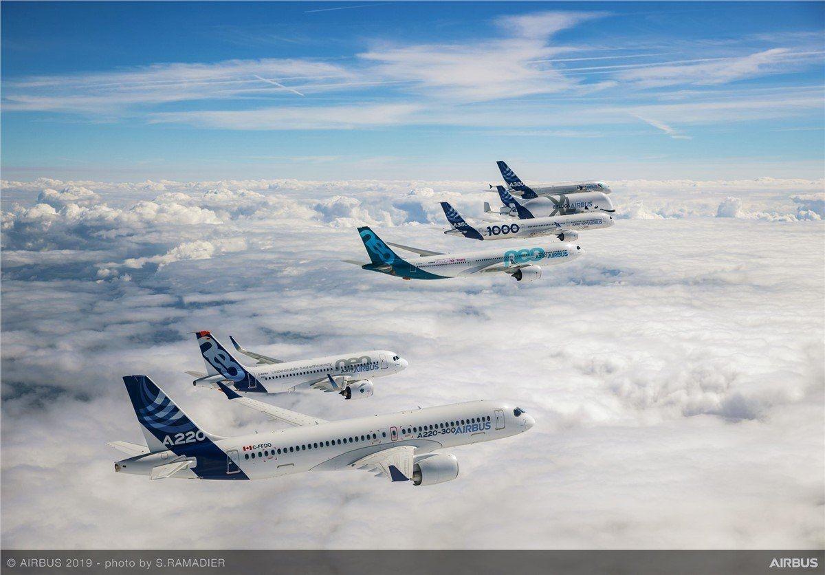 空客:上半年交付389架飞机 同比增长28%