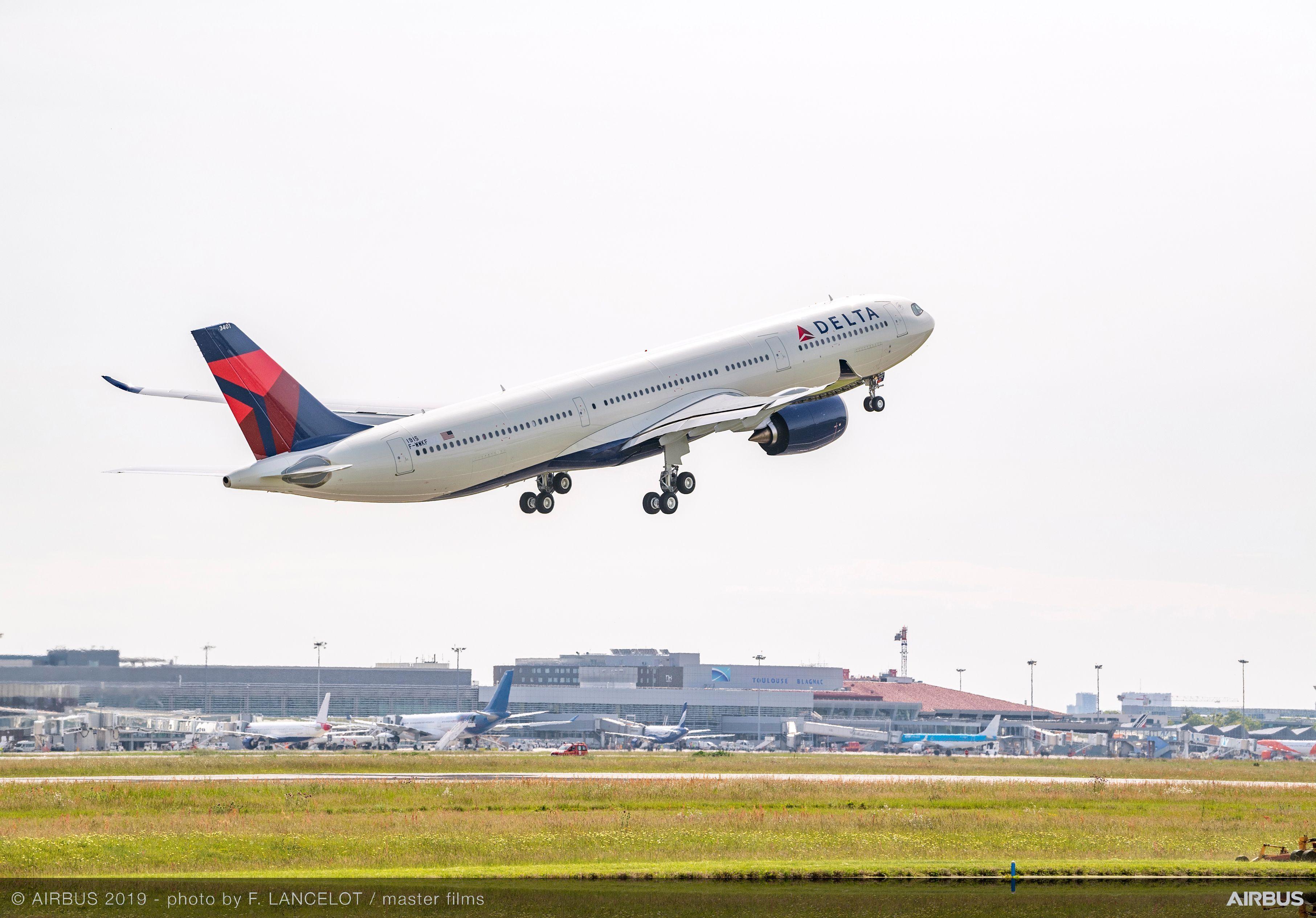 达美航空首架A330neo首航航线:西雅图-上海