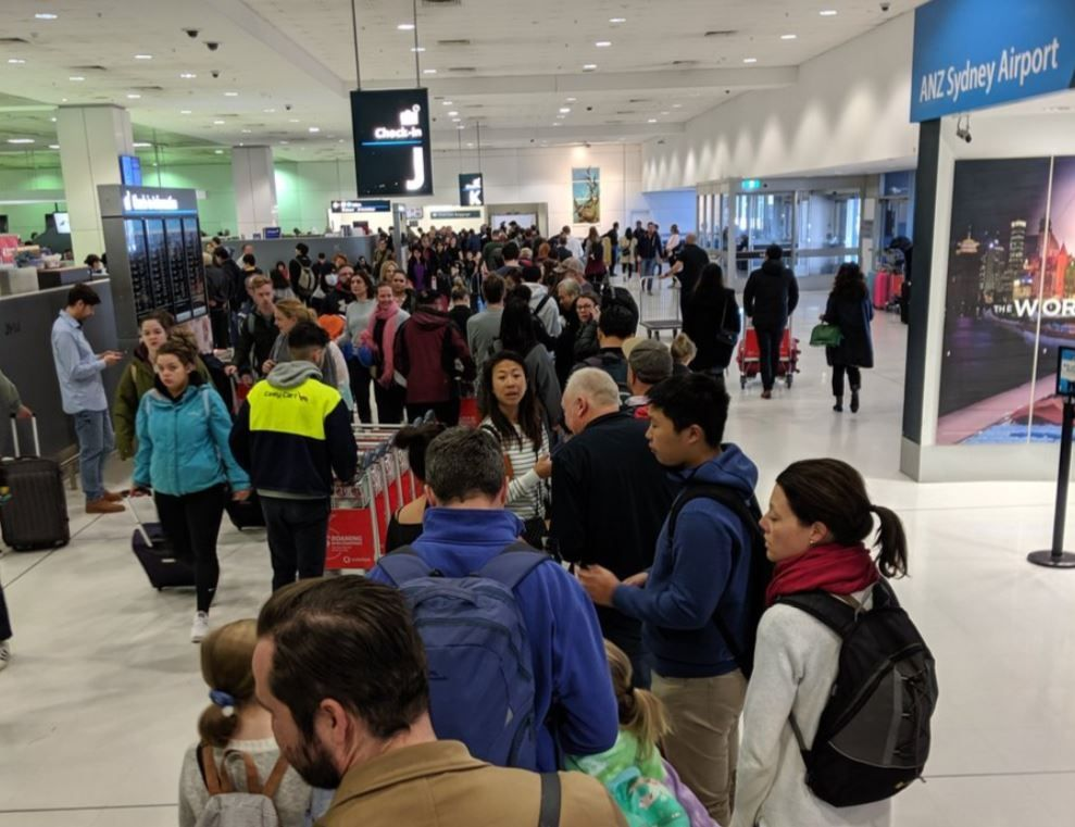 澳大利亚边防局安检系统失灵 导致悉尼机场出现大面积延误