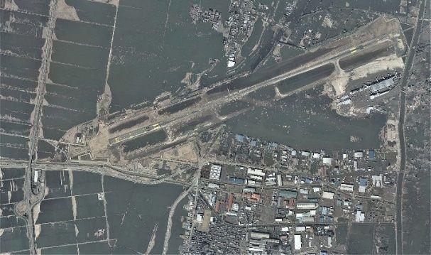 震后的仙台机场