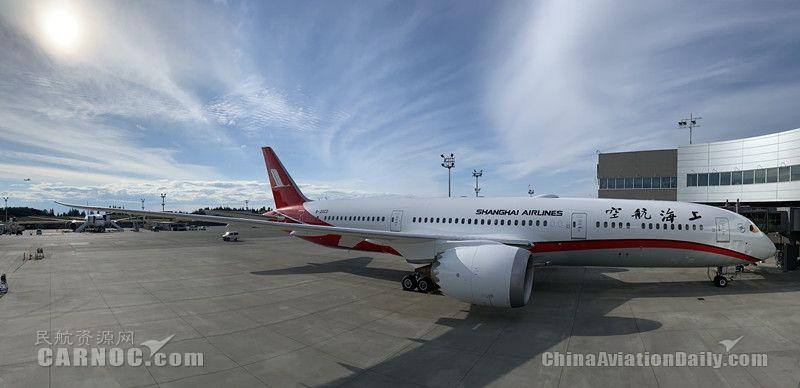 上航引进第六架波音787新机 机队规模达104架