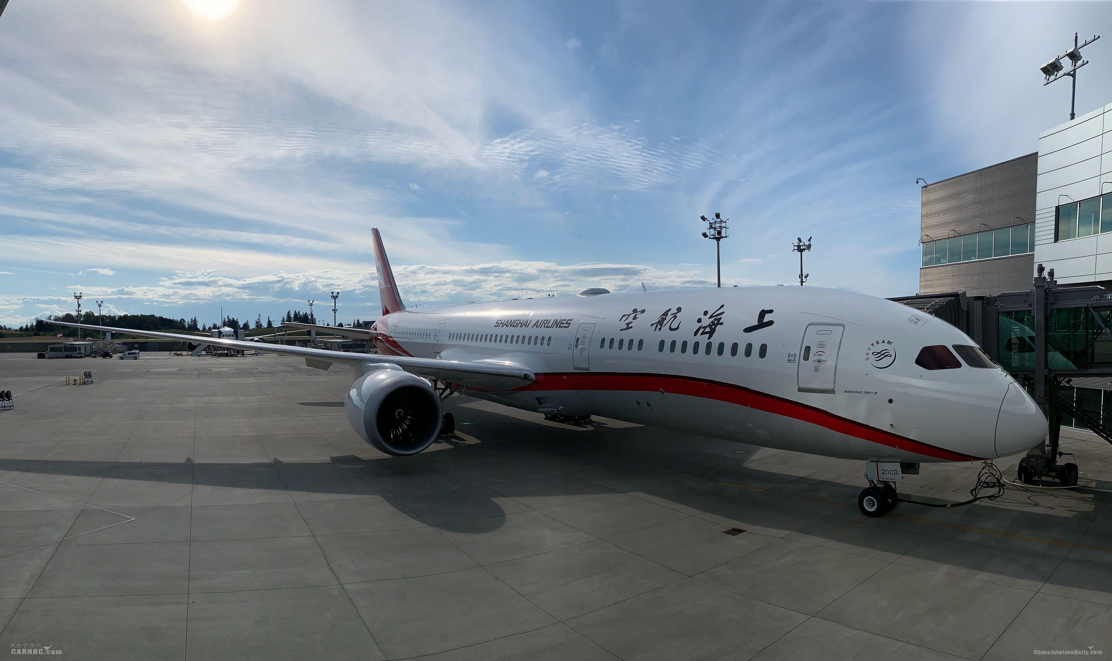 上航引进第六架波音787新机
