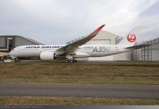 日航前3架A350采用红、银、绿色特殊Logo