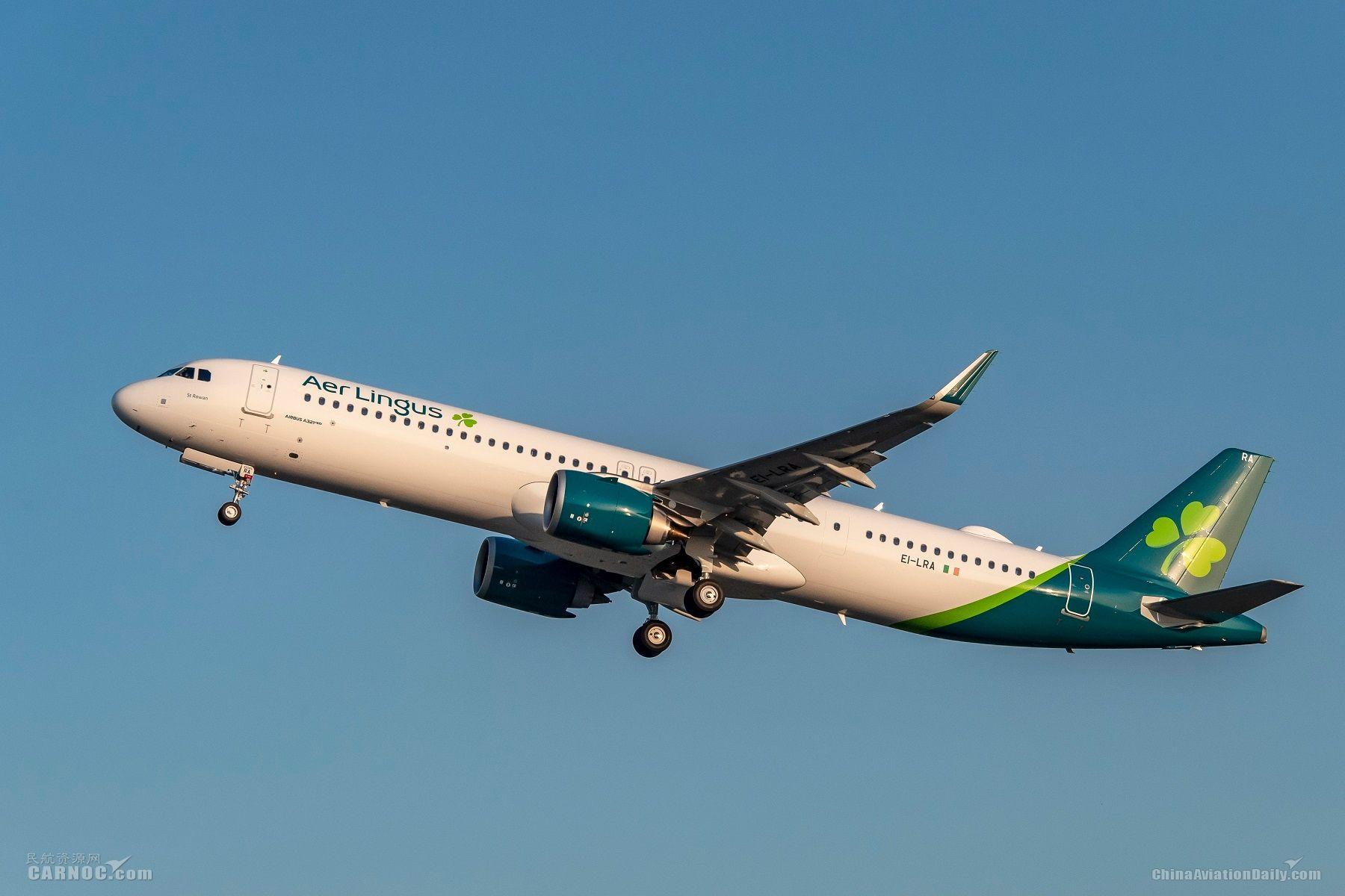 爱尔兰航空接收其首架远程型空客A321LR飞机