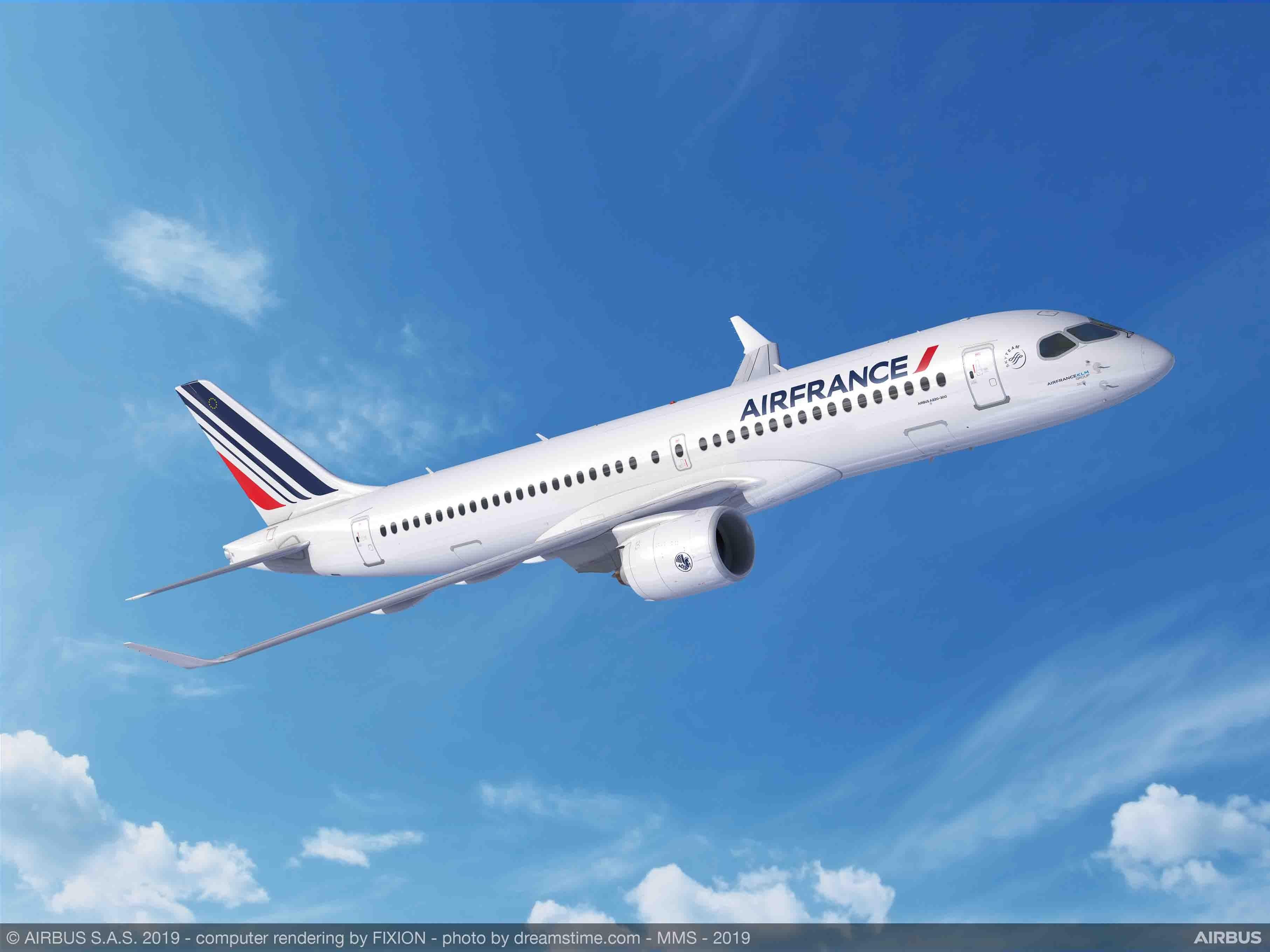 法荷航集团与空客签署协议 订购60架空客A220飞机