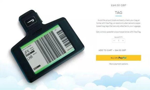 英航官网上,TAG目前预售价为64英镑。