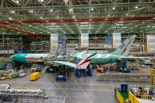 阿联酋国旗元素首次现身阿联酋航空波音777X飞机
