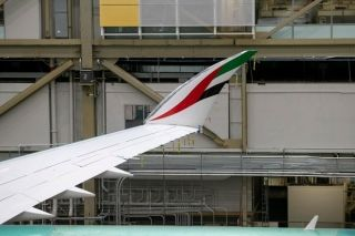 阿联酋国旗元素首现阿联酋航空波音777X 图片来源:阿联酋航空