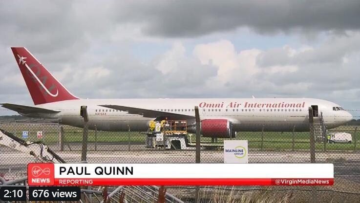 爱尔兰香农机场一客机失火 机场短暂关闭