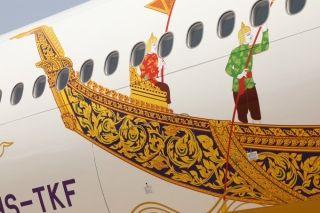 泰国航空新龙舟彩绘飞机 图片来源:推特@Sam Chui