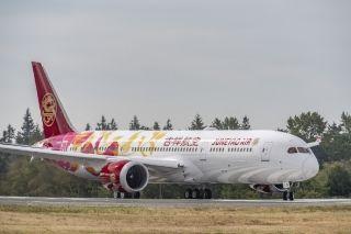 吉祥航空第五架波音787完成首次客户试飞。图片来源:吉祥航空官方微博