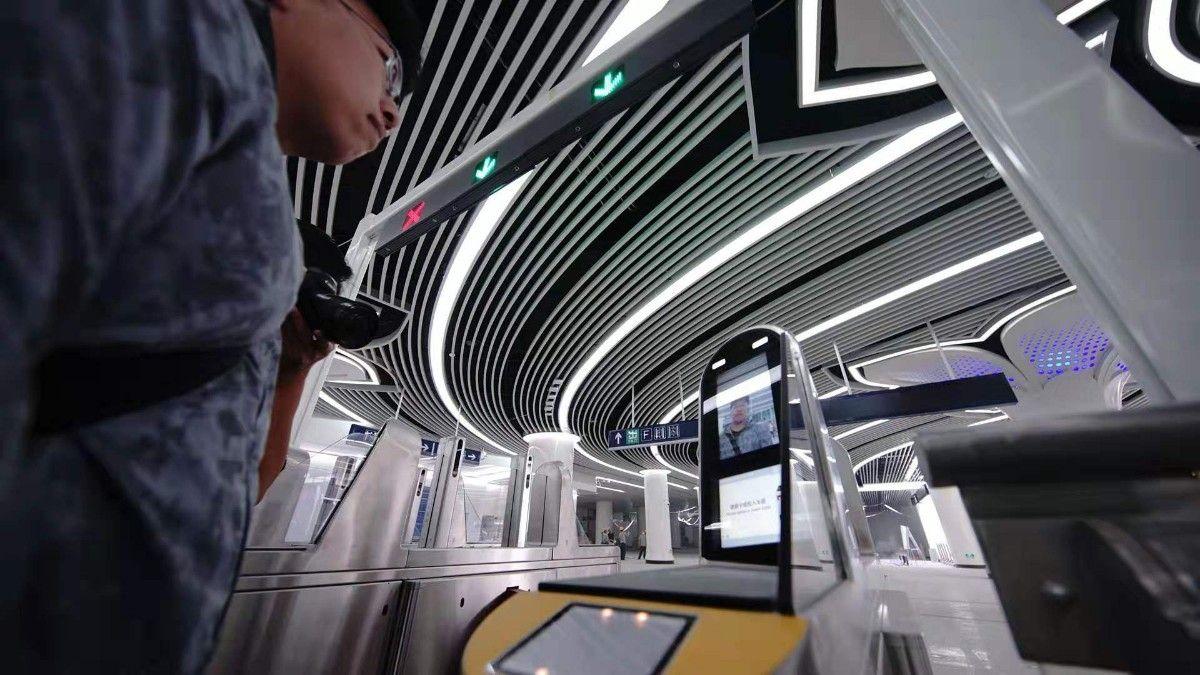 大兴机场线可刷脸入站 设商务座专用闸机
