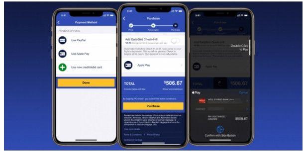 西南航空引入Apple Pay等支付平台购买机上服务