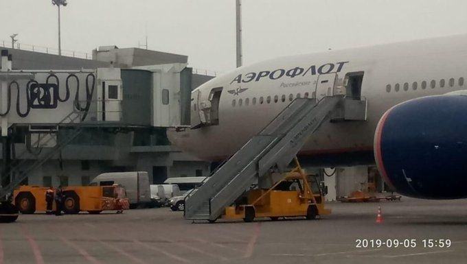 俄航北京-莫斯科航班抵达后因舱门受损停飞