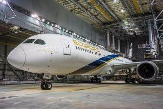 """""""金色的耶路撒冷"""" 以色列航空第12架波音787飞机"""