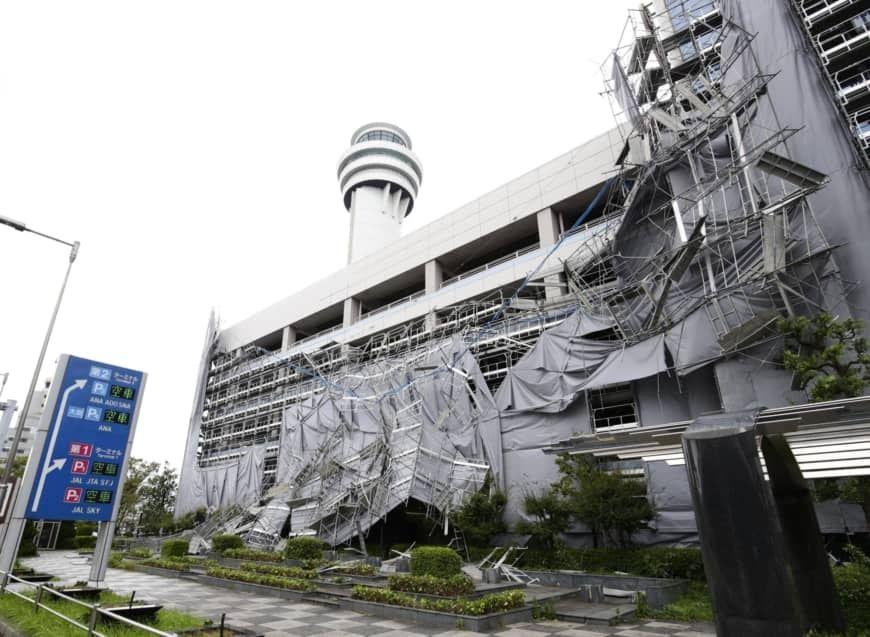 """强台风""""法茜""""袭击日本 羽田机场航班大面积取消"""