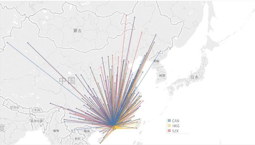 图5国内航线网络