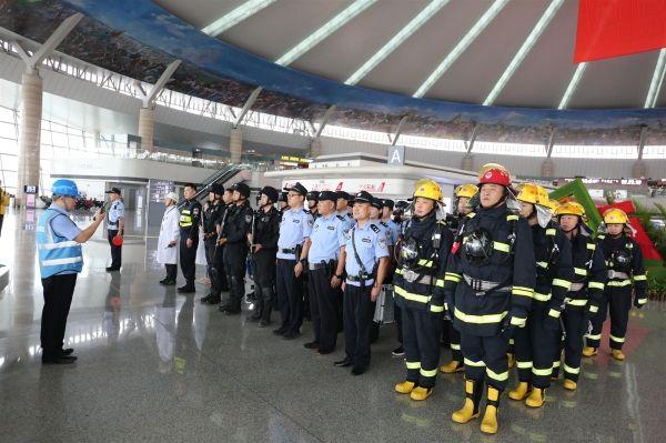 鄂尔多斯国际机场开展2019年度反恐演练