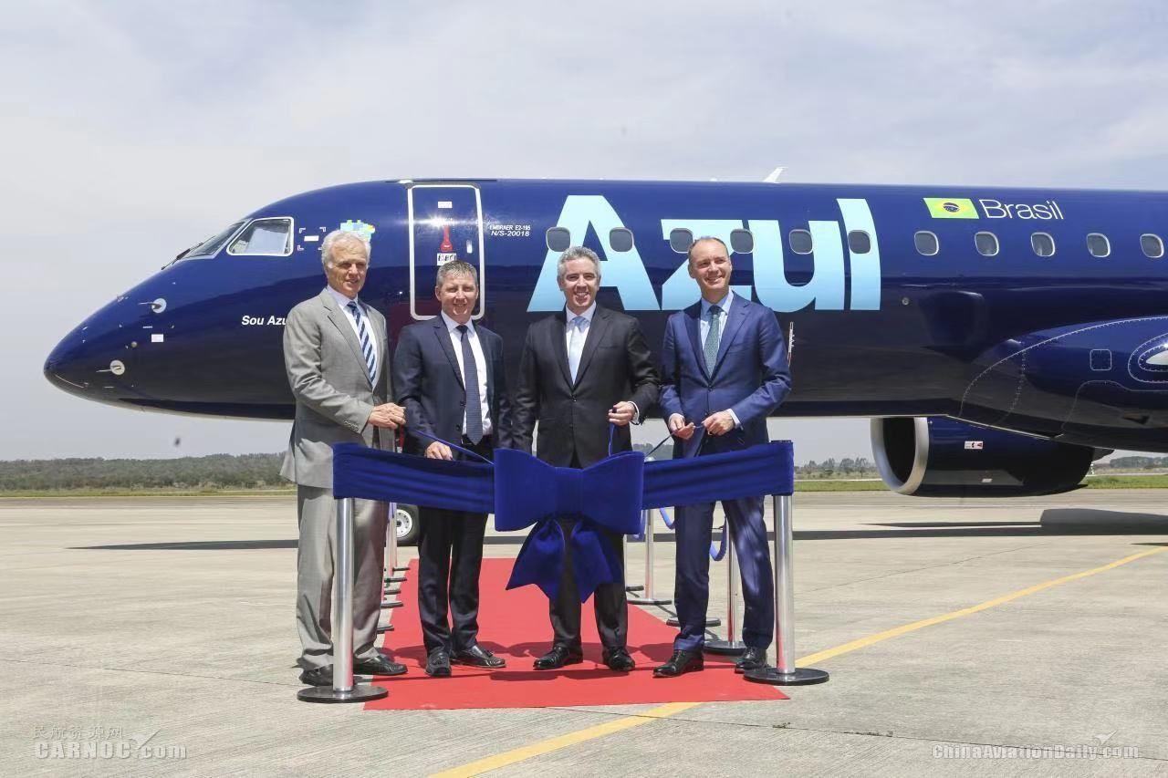 巴航工业最大商用飞机投运在即:全球首架E195-E2交付客户