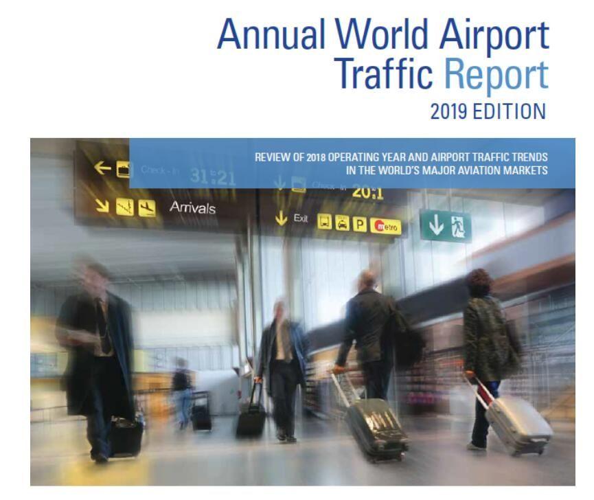 全球机场客流量排行:首都机场第二 亚特兰大机场连续21年榜首