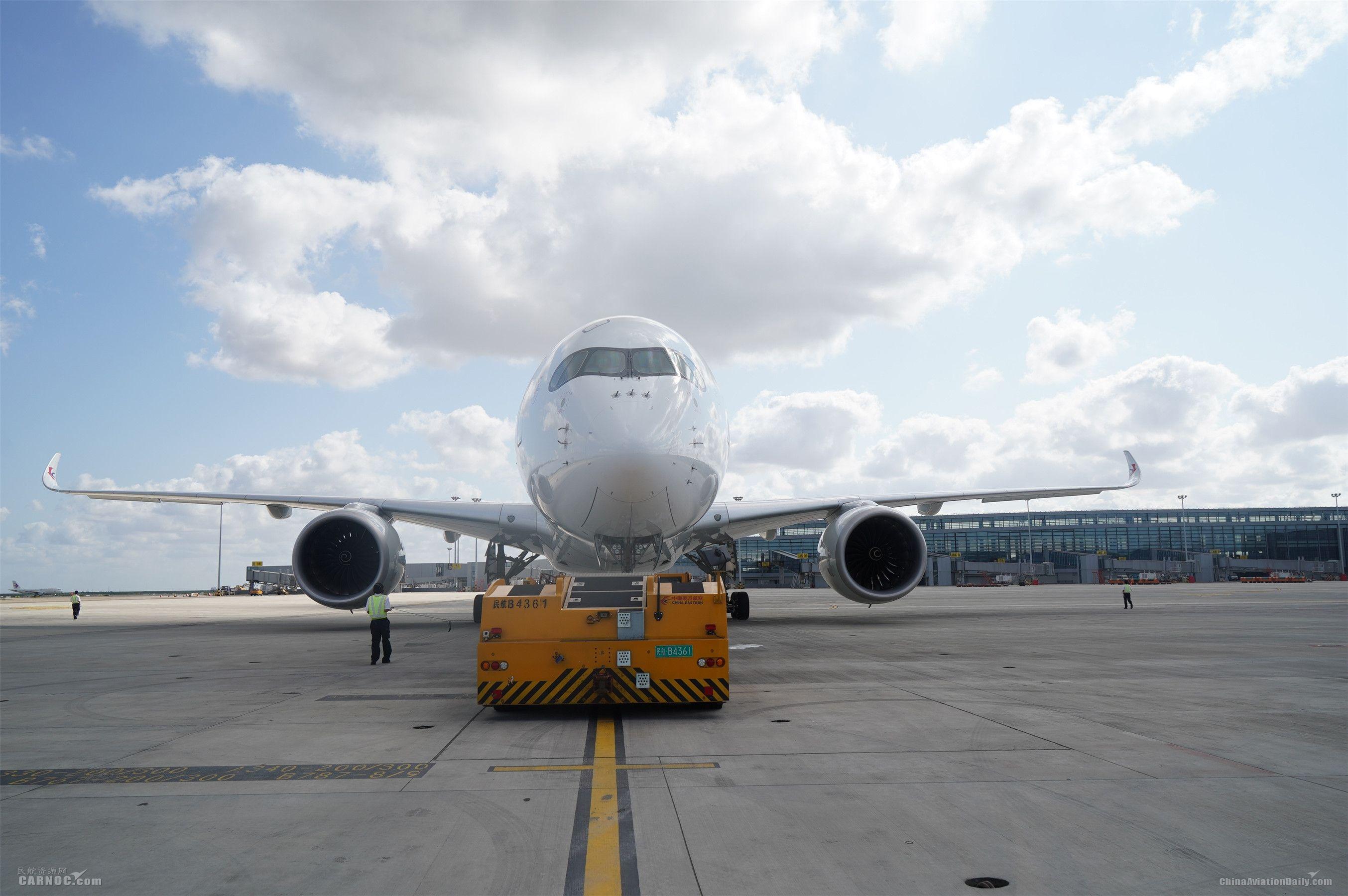 东航技术浦东维修基地保障浦东机场卫星厅航班运行