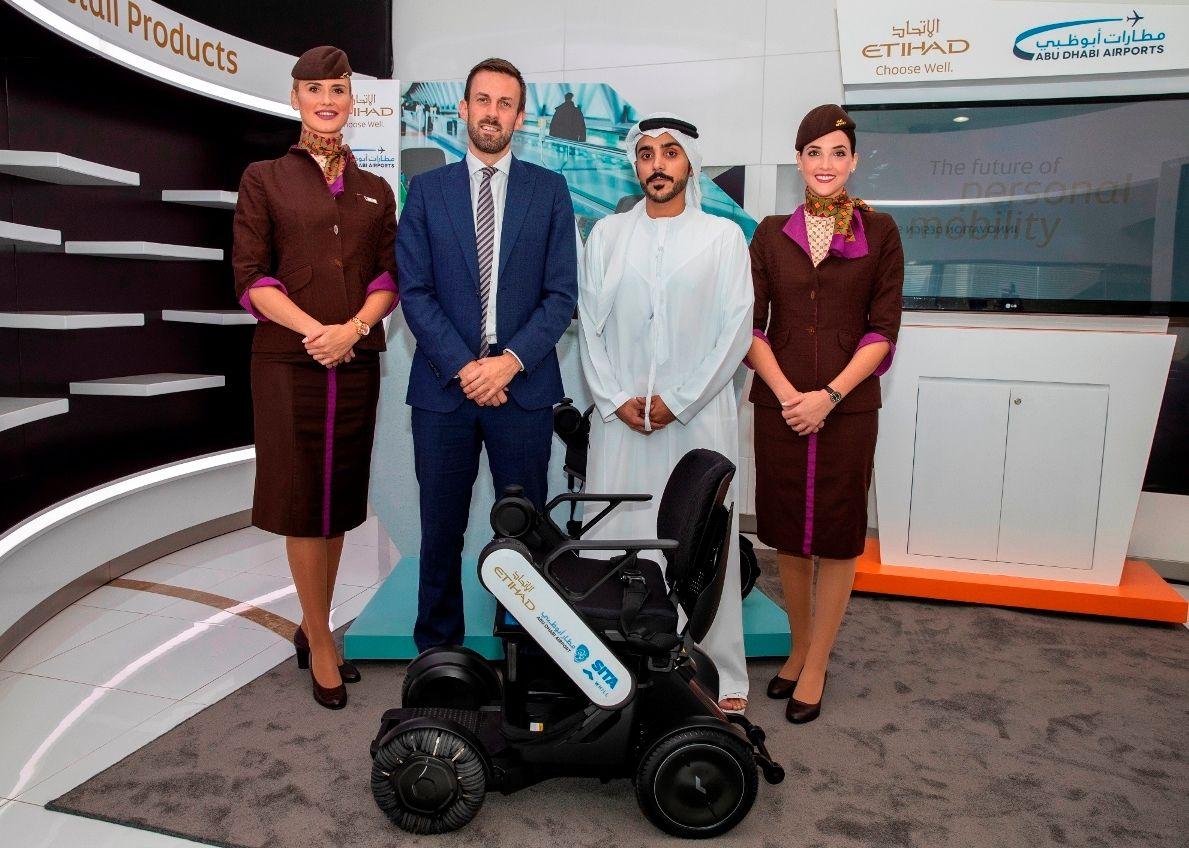 阿提哈德航空携手阿布扎比机场率先试用自动驾驶轮椅