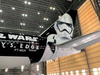 """南美航空""""星球大战""""彩绘涂装飞机 图片来源:@abear_br"""