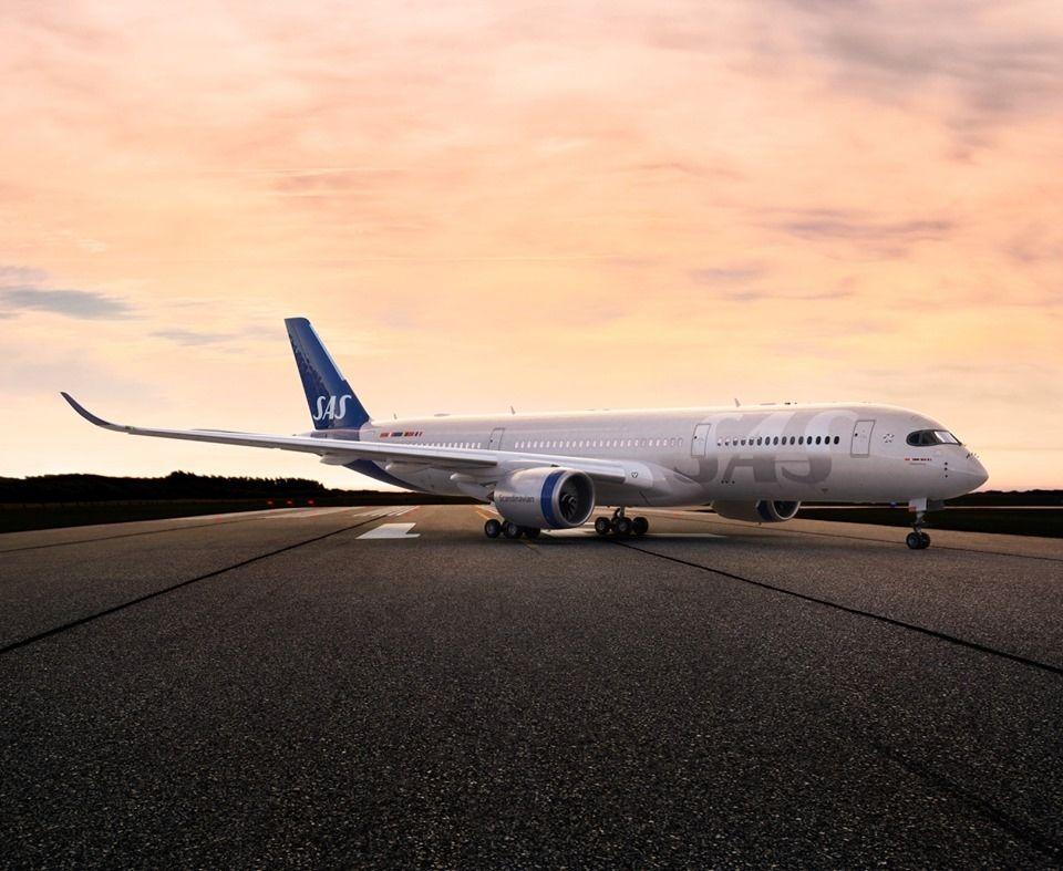 北欧航空飞机新涂装  图片来源:北欧航空官网