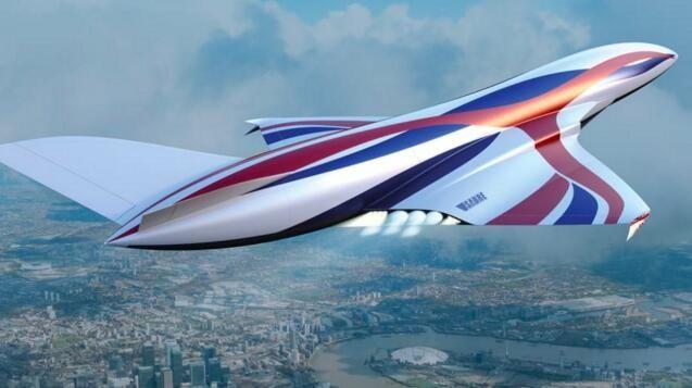 """英国正研发超音速""""太空飞机"""":伦敦到悉尼只需4小时"""