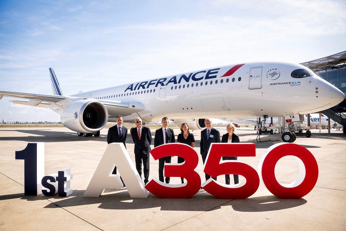 法国航空接收其首架空客A350XWB宽体飞机