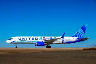 美联航新加利福尼亚彩绘飞机  图片来源:美联航