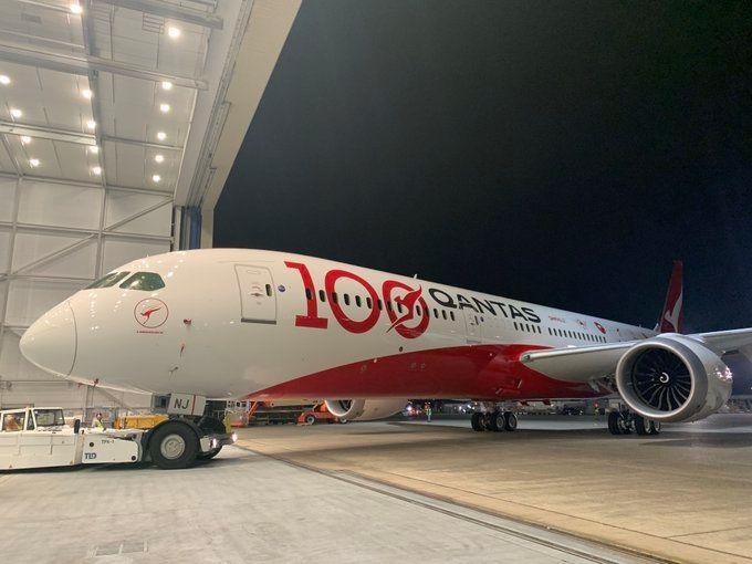 又一家百年航司 澳航100周年787彩绘飞机亮相