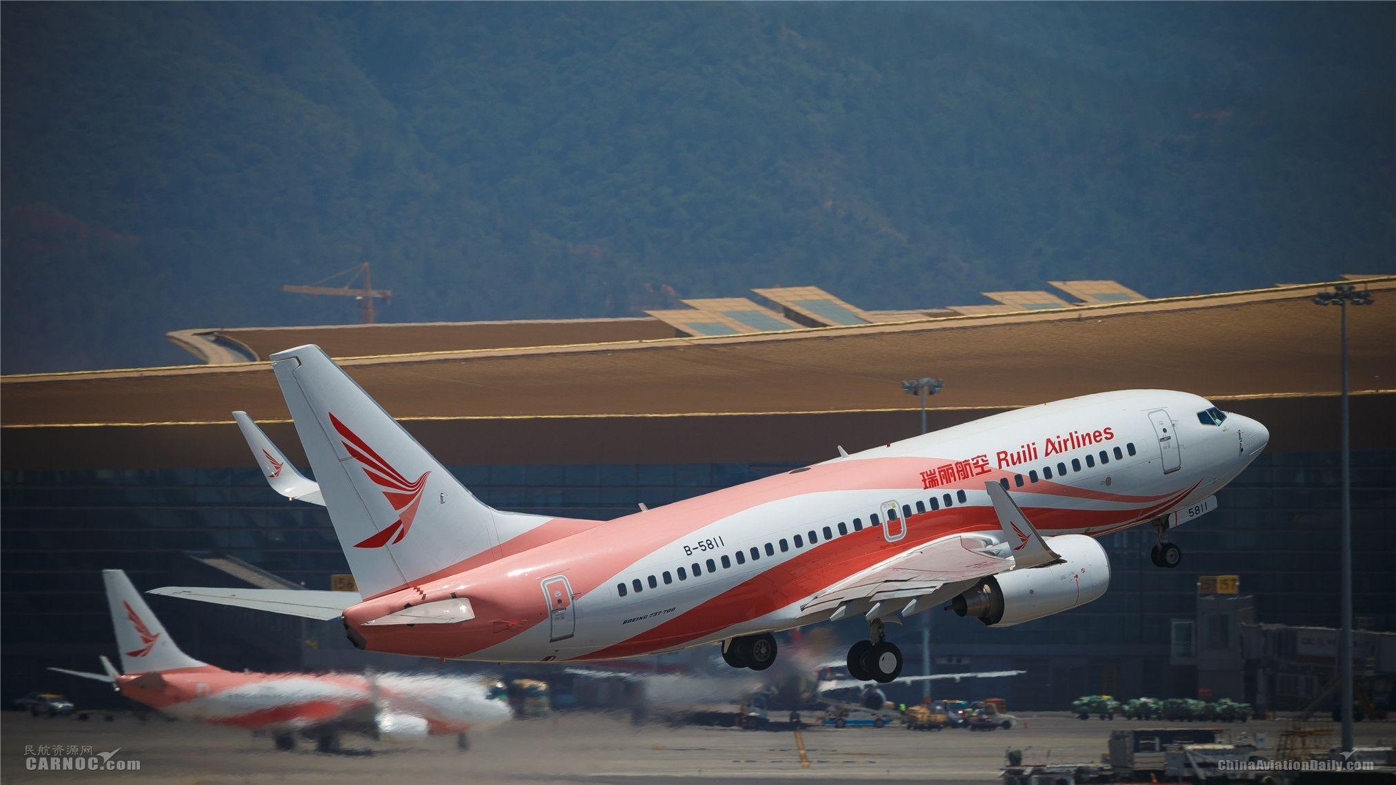 瑞丽航空换季将新开复飞14条航线