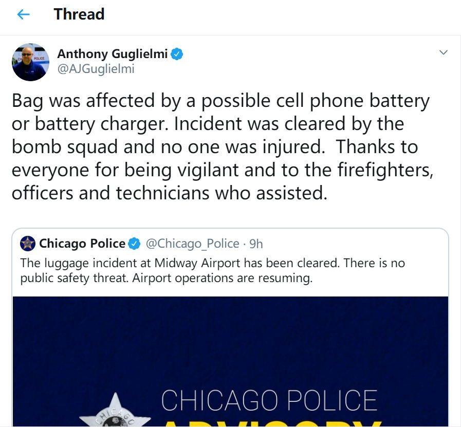 警方发言人安东尼相关声明